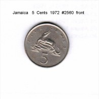 JAMAICA    5  CENTS  1972   (KM # 46) - Jamaica
