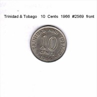 TRINIDAD & TOBAGO    10  CENTS  1966   (KM # 3) - Trinidad & Tobago