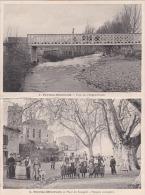 Peyriac-Minervois  Place Du Bourguet Platanes Centenaires  Pont Sur L'Argent-Double - France