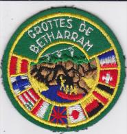 ECUSSON TISSU BRODE GROTTES DE BETHARRAM DRAPEAUX - Blazoenen (textiel)