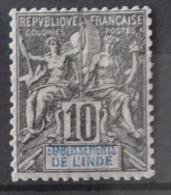 P 282 ++ ETABLISSEMENT L'INDE 1892  HINGED * - India (1892-1954)