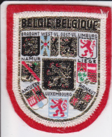 ECUSSON TISSU BRODE BELGIQUE  BLASON HERALDIQUE - Blazoenen (textiel)