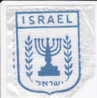 ECUSSON TISSU ISRAEL CHANDELIER JUIF SOUS PLASTIQUE - Ecussons Tissu