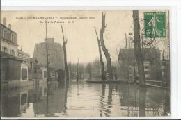 BOULOGNE BILLANCOURT  LA RUE MEUDON  INONDATIONS JANVIER 1910 - Boulogne Billancourt