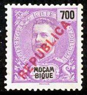 """!■■■■■ds■■ Mozambique 1917 AF#200(*) Local """"republica"""" 700 Réis Mint (x4516) - Mozambique"""