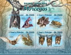 st13212a S.Tome Principe 2013 Bats s/s