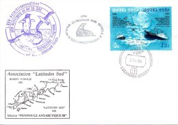 URSS. N°5345-6 Sur Enveloppe Polaire De 1988. Expédition De La RDA En Antarctique/Bateau/Hélicoptère/Morse/Phoque. - Antarktis-Expeditionen