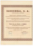 ACCION ANTIGUA - ACTION ANTIQUE = SUCECORAL 1952 - Acciones & Títulos