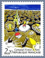 France N° 2395 ** Carnaval - Venise à Paris - Tour Eiffel (verte) - Nuovi