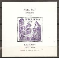PINTURA/RUBENS - RUANDA 1977 - Yvert #H80 - MNH ** - Rubens