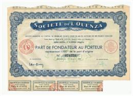 ACCION ANTIGUA - ACTION ANTIQUE = Societe De L'Ouenza (Argelia)  1948 - Acciones & Títulos