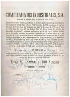 ACCION ANTIGUA - ACTION ANTIQUE = Complementos Industriales 1966 - Acciones & Títulos