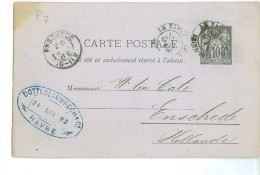 FRANCE * HANDGESCHREVEN BRIEFKAART * GELOPEN In 1882 Van LE HAVRE Naar ENSCHEDE   (7885) - 1876-1898 Sage (Type II)