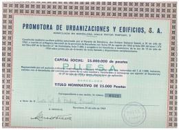 ACCION ANTIGUA - ACTION ANTIQUE =  Promotora De  Urbanizaciones Y Edificios 1962 - Acciones & Títulos