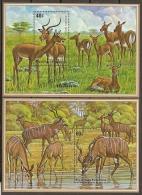 ANIMALES - RUANDA 1975 - Yvert #H45/46 - MNH ** - Animalez De Caza