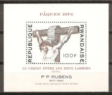 PINTURA - RUANDA 1974 - Yvert #H35 - MNH ** - Rubens