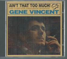 """CD   GENE CINCENT  -  """" AIN'T THAT TOO MUCH ! """"  -  18  TITRES - Other - English Music"""