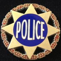 Insigne Rond POLICE - Etoile - Polizei