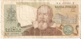 BILLETE DE ITALIA DE 2000 LIRAS DEL AÑO 1973  GALILEO  (BANKNOTE) - [ 2] 1946-… : República