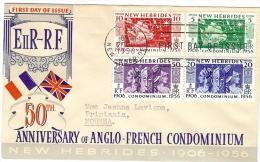 LKR - NEW HEBRIDES FDC 20/10/1956 - FDC
