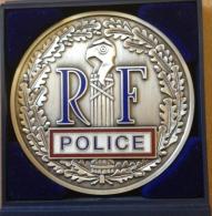 Médaille Ronde Police Nationale RF - Direction Générale De La Police Nationale - Polizei