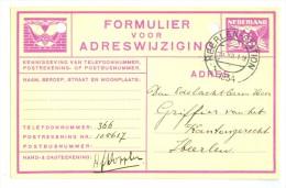 FORMULIER VOOR ADRESWIJZIGING GELOPEN IN 1934 Van LOKAAL HEERLEN   (7889c) - Postal Stationery