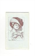 PETIT AGENDA CALENDRIER    1914 -FEMME ET  CHAPEAU -COMPAGNIE CHOCOLAT DU PLANTEUR - - Calendriers