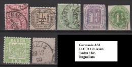 Germania Antichi Stati - Lotto Di 7v. Usati/nuovi* - Allemagne