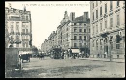 69 LYON 02 / Place Bellecour Et Rue De La République / - Lyon