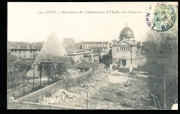 69 LYON 01 / Monument Des Combattants Et L'Eglise Des Capucins / - Lyon