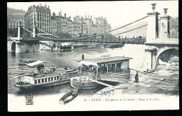 69 LYON 01 / Les Quais De La Saône, Pont La Feuillée / - Lyon