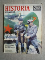 Historia Magazine N° 26  1968. Objectif Leningrad, 2ème Guerre De Finlande, Les Oflags .Voir Sommaire. - History