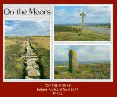 "P4412  ""On The Moors""  (1970's. Colour Photogravure Multi-view Postcard) - England"