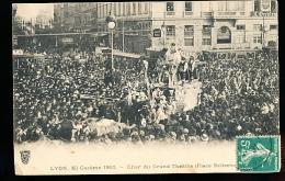 69 LYON 02 / Mi Carême 1910, Char Du Grand Théâtre Place Bellecour / - Lyon