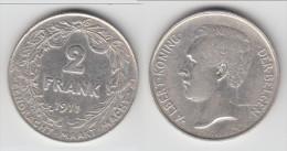 **** BELGIQUE - BELGIUM - 2 FRANCS 1911 ALBERT KONING DER BELGEN - ARGENT - SILVER **** EN ACHAT IMMEDIAT - 1909-1934: Albert I