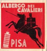 VINTAGE LUGGAGE LABEL ** ANCIENNE ETIQUETTE HOTEL  DE BAGAGE  ** ALBERGO DEI CAVALIERI PISA - Hotel Labels
