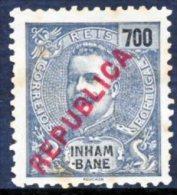 "!■■■■■ds■■ Inhambane 1917 AF#101(*) Local ""Republica"" 700 Réis Mint (x0933) - Inhambane"