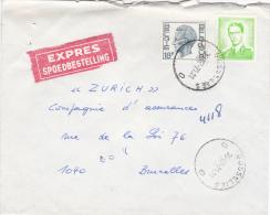 1068+1585  Op Brief Per EXPRES Met Stempel GOSSELIES - 1970-1980 Elström