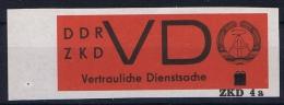 DDR, 1963 VD 3 Geschnitten MNH/**