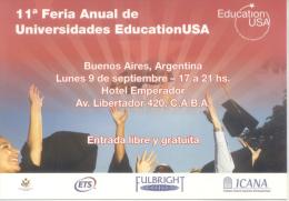 UNDECIMA FERIA ANUAL DE UNIVERSIADES  EDUCATION USA EDUCATIONUSA - School