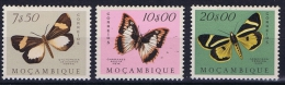 Portugal, Mocambique, Butterflies, 434-436 MH/*  High Values - Mozambique