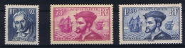 France: 1934, Yv Nr 295 - 297 MH/*,