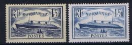 France: 1935, Yv Nr 299 - 300 MH/*, Hinge Or Part Hinge Still On Stamp.