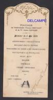 Menu Ancien De 1926 - BARBONNE FAYEL ( Marne ) - Mariage HERMANT / SAMSON - Hôtel Du Vigneron - Menú