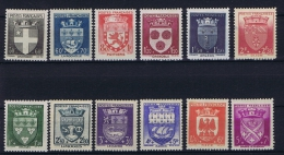 France: 1942, Yv Nr 553 - 564   MH/*