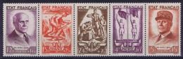 France: 1943, Yv Nr 576 - 580   MNH/**