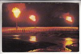 ALGERIE Ouargla ( Hassi Messaoud ) PETROLE GAZ : Torchères - CPSM PF N° 4009 ( Petroleum Gas Oil ) - Ouargla