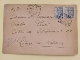 PINTOR CASIMIRO M. TARRASSO De Su Familiar AURELIA M. TARRASSO CARTA CIRCULADA De  BARCELONA A MALLORCA Mayo 1948 - Marcas De Censura Nacional