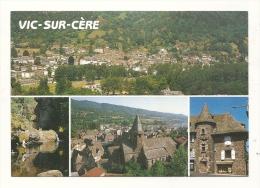 Cp, 15, Vic-sur-Cère, Multi-Vues, Voyagée 1992 - France