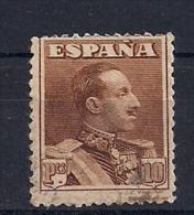 ESPAÑA, EDIFIL 323 CIRCULADO, ALFONSO XIII, VAQUER, 10 PTS. - Usados